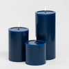 "Richland Pillar Candles 4 x4"", 4""x6"" & 4""x9 Navy Blue Set of 18"