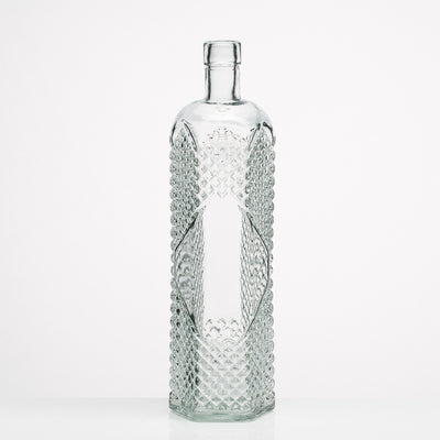 richland glass textured bottle set of 12