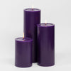 "Richland Pillar Candles 4""x6"", 4""x9"" & 4""x12"" Purple Set of 3"