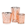 richland rose gold chevron glass holder small set of 72