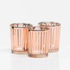 richland rose gold stripe glass holder small set of 12