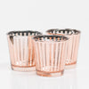 Richland Rose Gold Stripe Glass Holder - Medium Set of 6