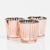 Richland Rose Gold Dotted Glass Holder - Medium Set of 48