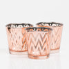 Richland Rose Gold Chevron Glass Holder - Medium Set of 48
