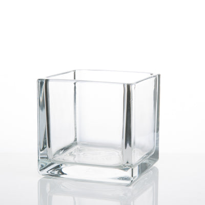 Richland Square Glass Cube Vase 4""