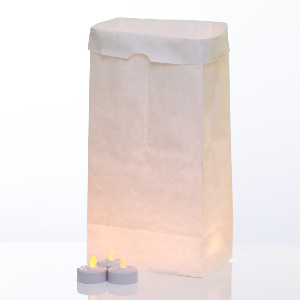 Eastland White Luminary Bags & Richland LED Tealight Candles Set of 144