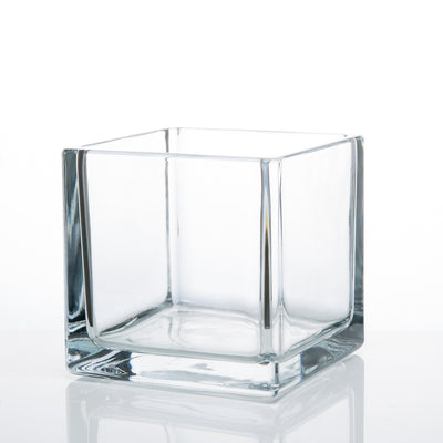 "Richland Square Glass Cube Vase Set of 3 (4""/5""/6"")"