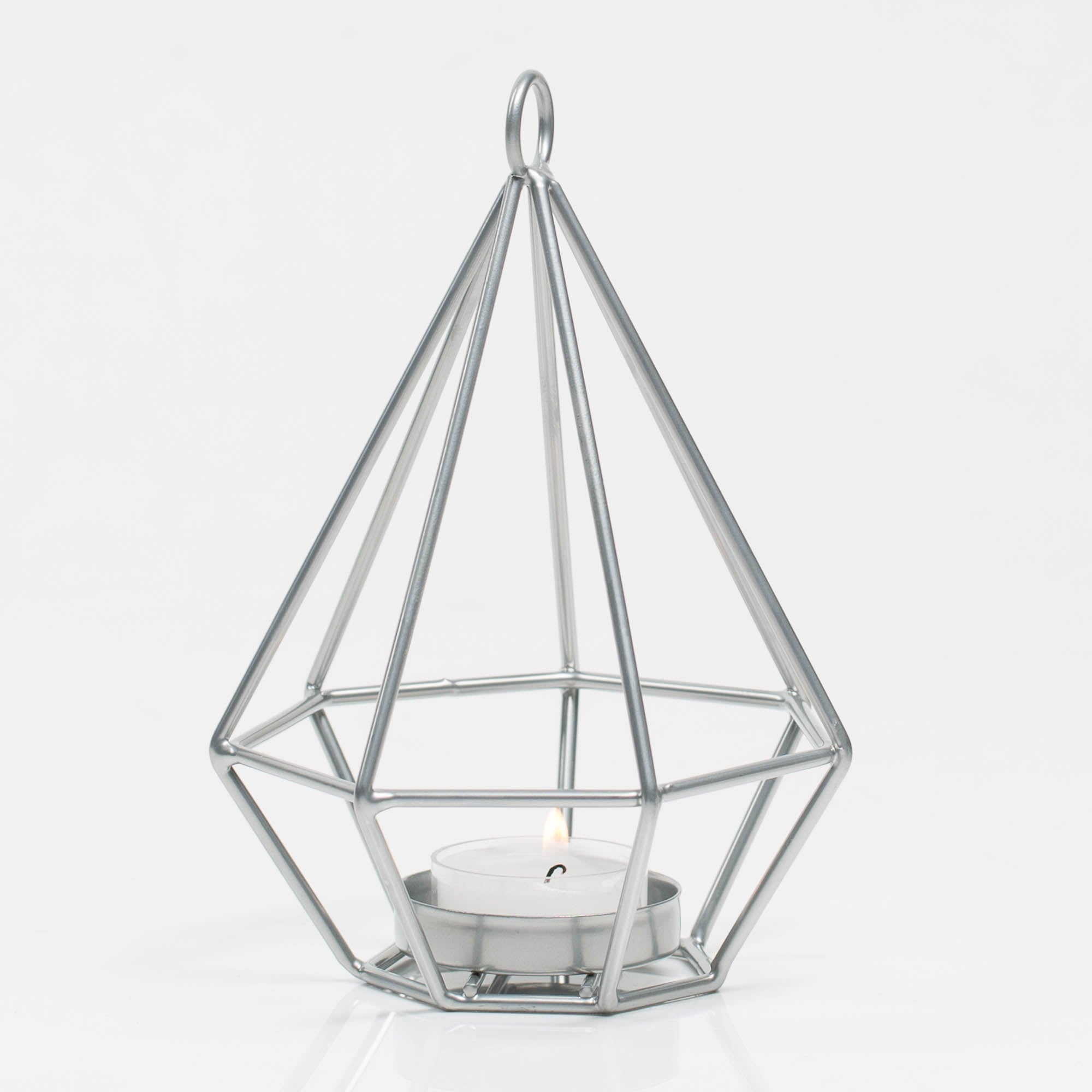 Richland Geometric Tealight Candle Holders - Silver Set of 12