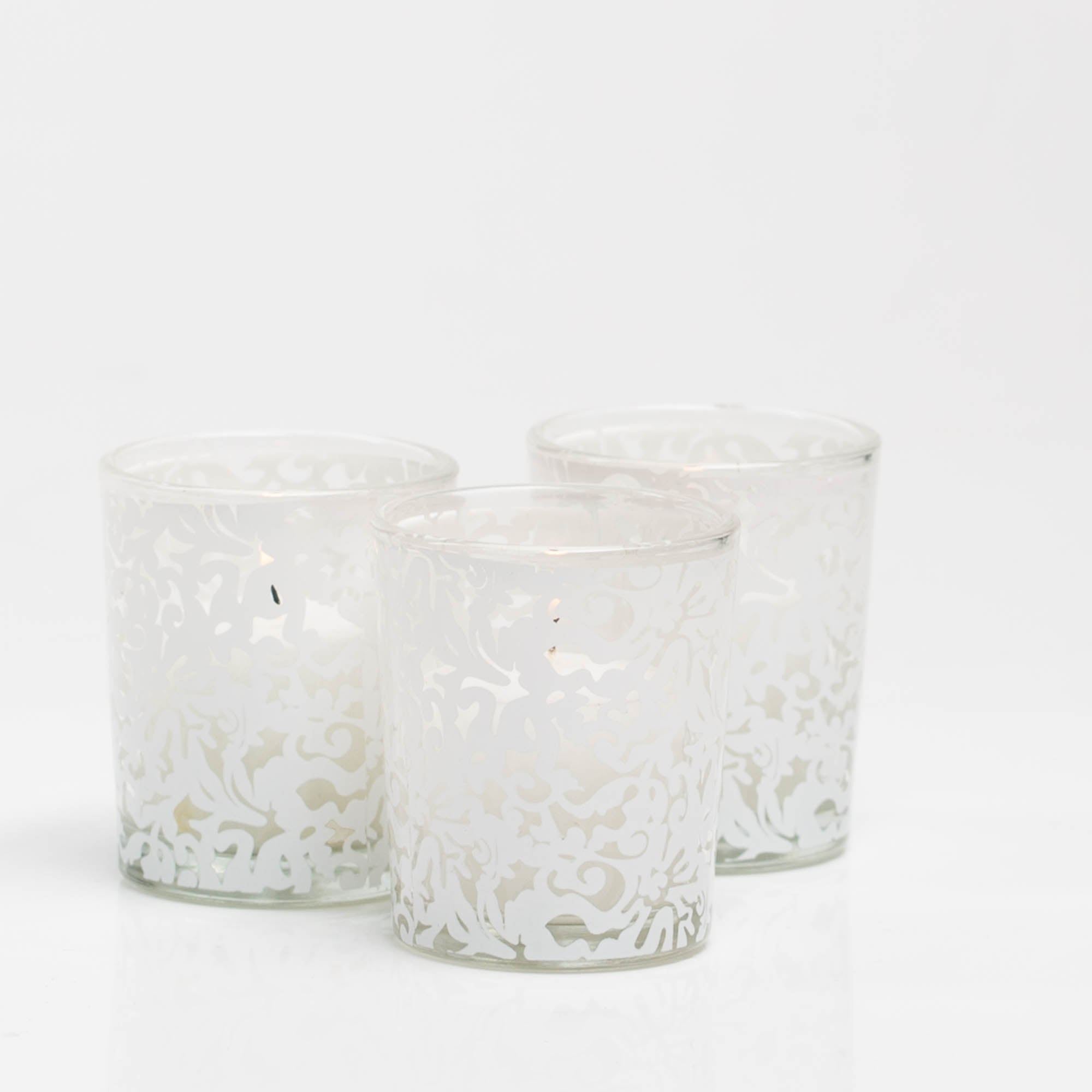 Richland Lace Design Votive Candle Holder Set of 12