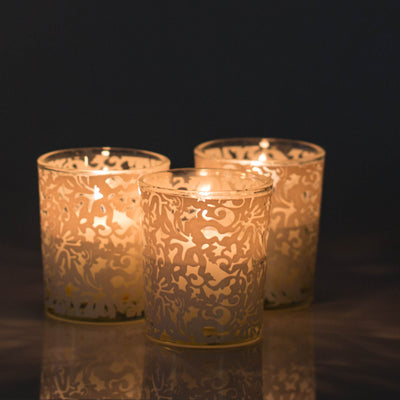 Richland Lace Design Votive Candle Holder Set of 72