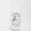 Richland Small Mercury Hanging Mason Jar with Clear Bead Handle - Silver Set of 36