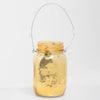 Richland Small Mercury Hanging Mason Jar with Clear Bead Handle - Amber Gold Set of 12