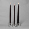 "Richland Taper Candles 10"" Black Set of 50"