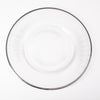 richland 13 silver rim glass charger plate set of 24
