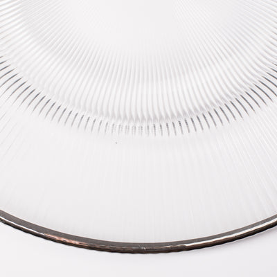 richland 13 silver rim glass charger plate set of 12