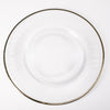 richland 13 gold rim glass charger plate set of 24