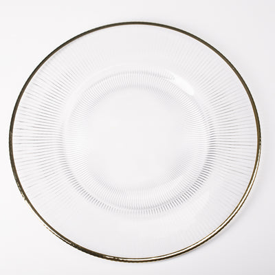 richland 13 gold rim glass charger plate set of 48