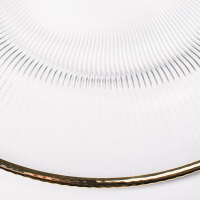 "Richland 13"" Gold Rim Glass Charger Plate Set of 12"