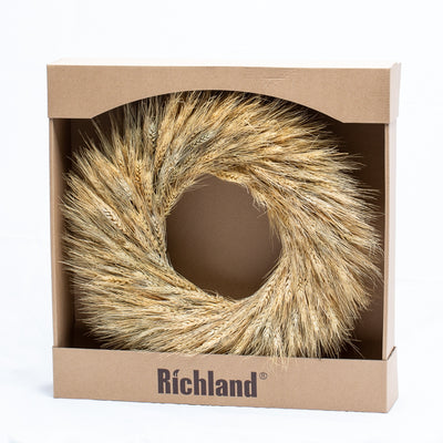 Richland Preserved Wheat Wreath 17""