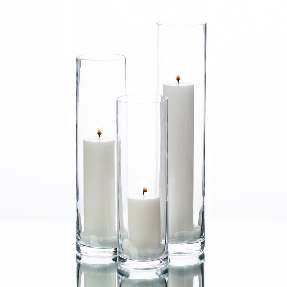 Richland Pillar Candles & Sloan Cylinder Vases Set of 3