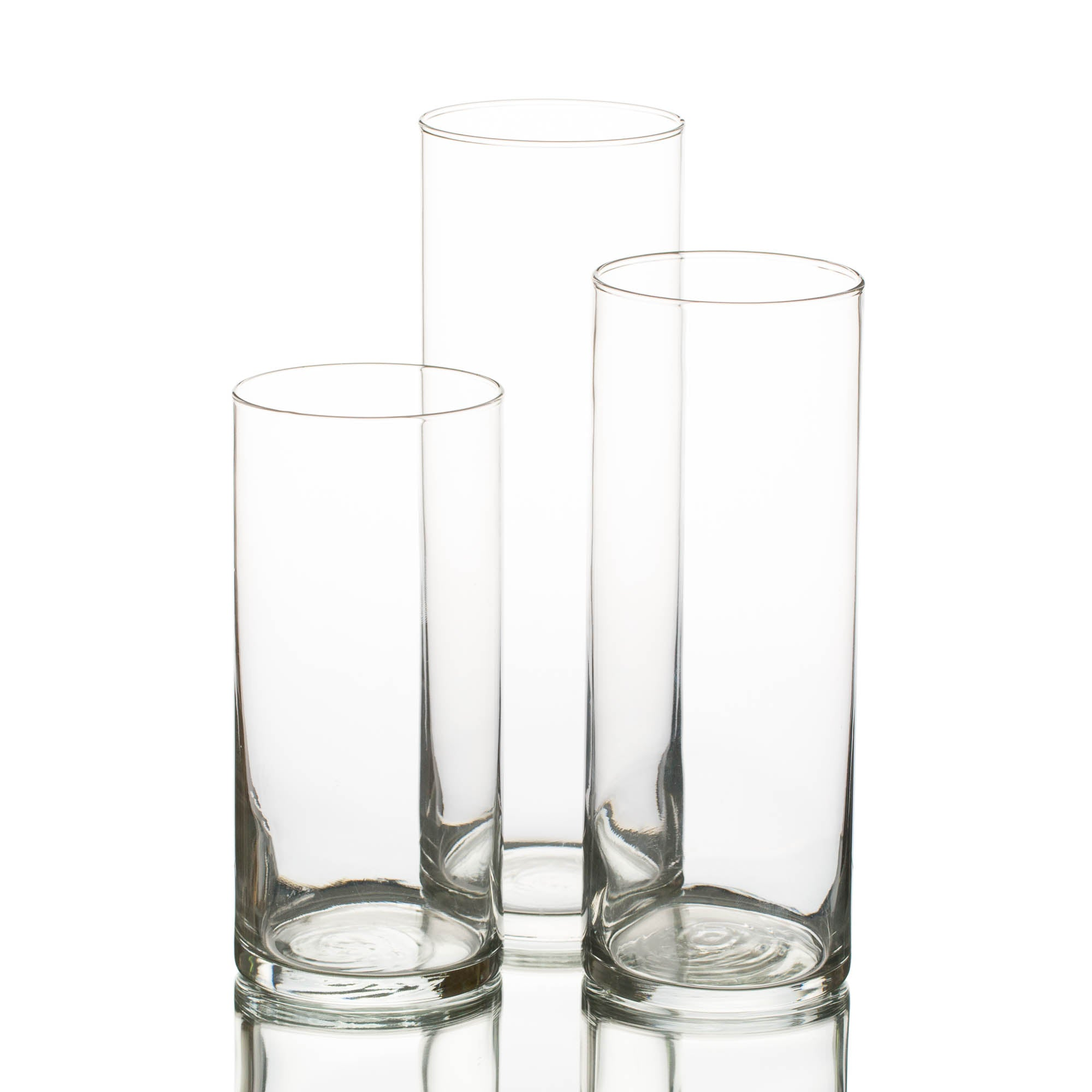 "Eastland Cylinder Floating Candle Holders 7.5"" , 9"" & 10.5"" Set of 36"