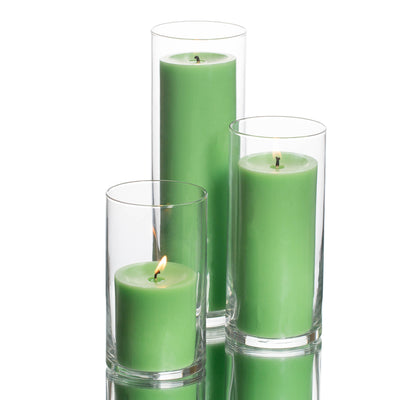 Richland Pillar Candles & Eastland Cylinder Holders Set of 3