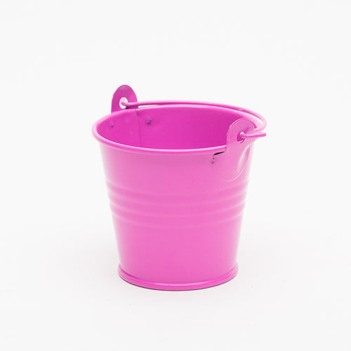 "Richland 2"" Iron Favor Bucket, Fuchsia Set of 25"