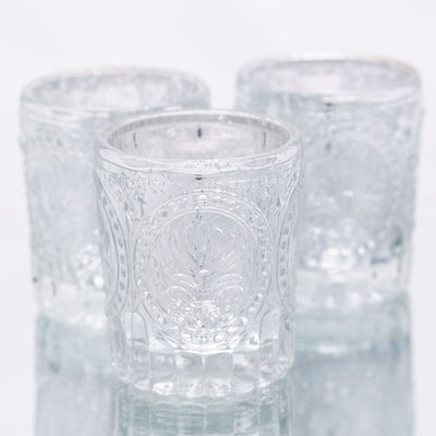 richland mercury votive holder primrose silver set of 48