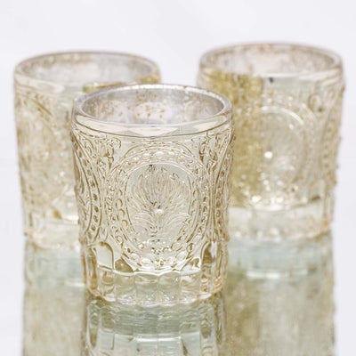 Richland Mercury Votive Holders Primrose Metallic Gold Set of 12