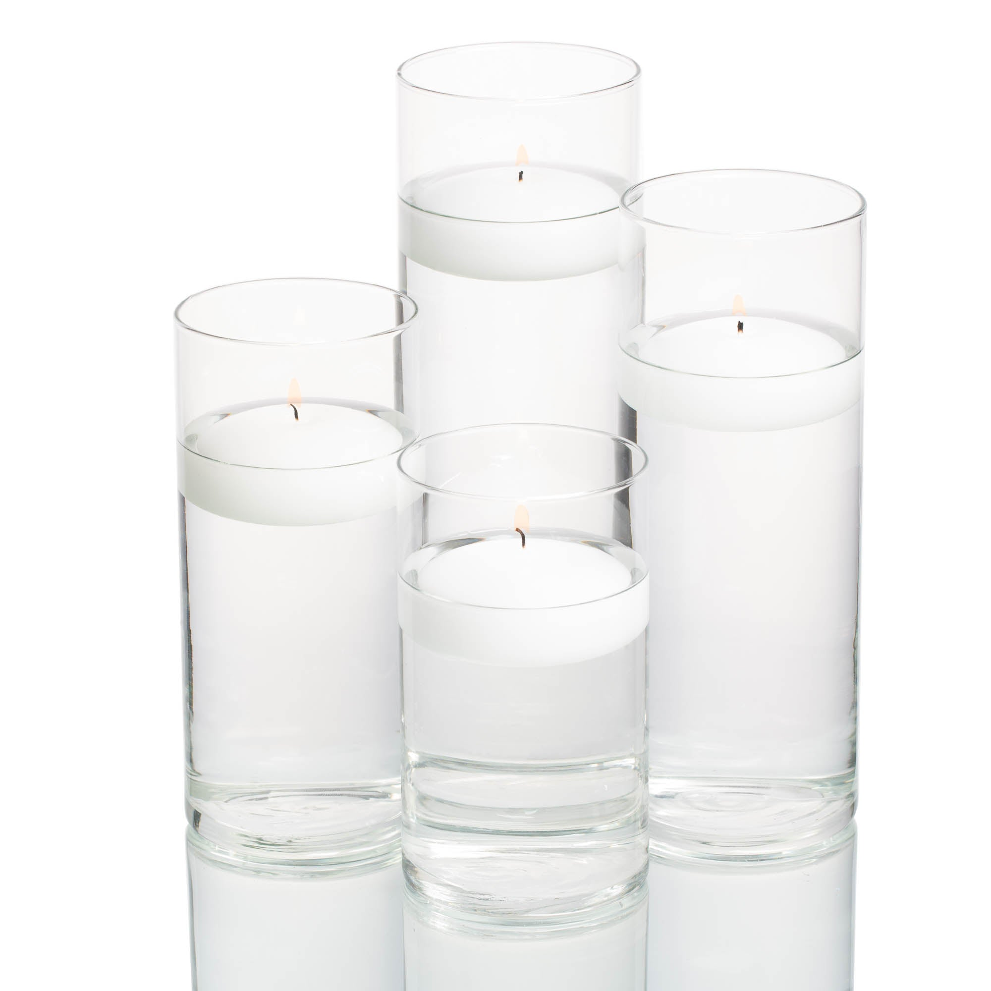 Richland Floating Candles & Eastland Cylinder Holders Set of 4
