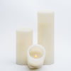 richland flameless led pillar candles 3 x9 ivory set of 6