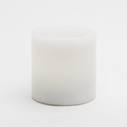 "Richland Flameless LED Pillar Candles 3""x3"" White Set of 6"