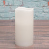 "Richland Flameless LED Wavy Top Pillar Candle White 3""x6"" Set of 6"