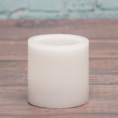 richland flameless led pillar candle 3 x3 white