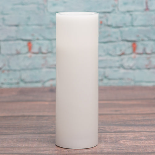 richland flameless led pillar candle 3 x9 white