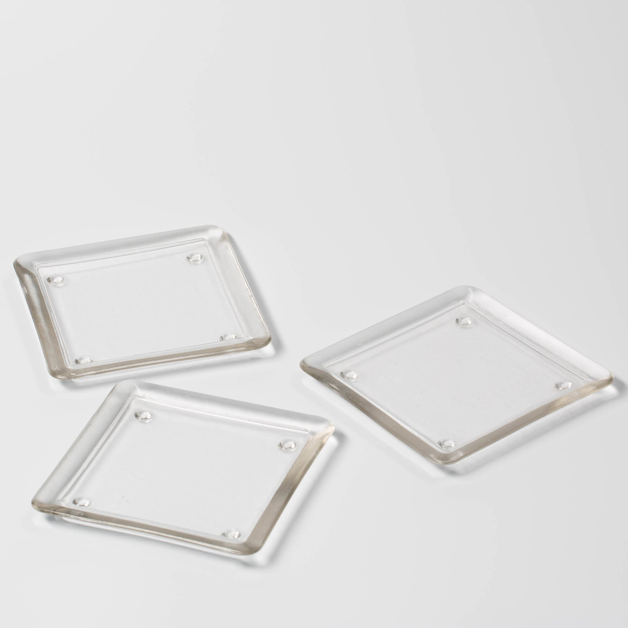 "Eastland Square Glass Pillar Plate 5"" Set of 36"