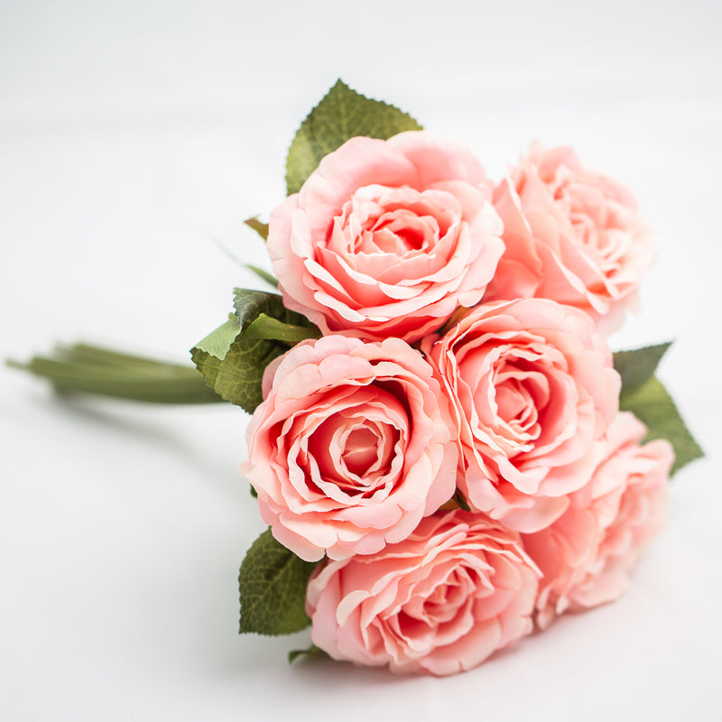 Richland Pink Silk Flower Rose Bouquet