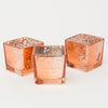 Richland Rose Gold Mercury Square Votive Holder Set of 12