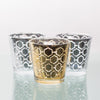 Richland Silver Hexagonal Glass Holder - Medium Set of 48