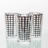 richland silver dotted glass holder large set of 6