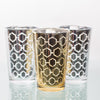 richland silver hexagonal glass holder large set of 48