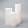 "Richland 4"" Large LED Pillar Candle with Wavy Top (3 Sizes) - Set of 18"