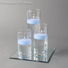 "Eastland Square Mirror and Cylinder Vase Centerpiece with Richland 3"" Floating Candles Set of 4"