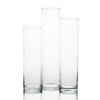 "Eastland Tall Cylinder Vases 13"" , 15"" & 17"" Set of 3"