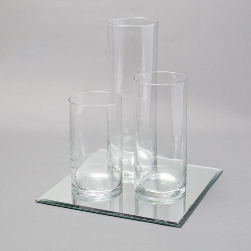 Eastland Square Mirrors and Cylinder Vases Centerpiece Set of 48
