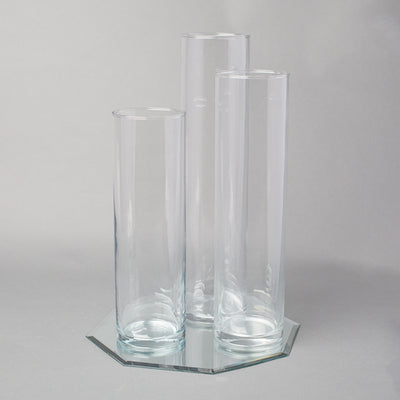 eastland 12 mirror and tall cylinder vase centerpiece set of 3