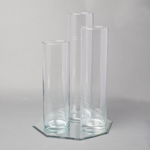 "Eastland 12"" Mirror and Tall Cylinder Vase Centerpiece Set of 4"