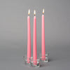 "Richland Taper Candles 10"" Pink Set of 10"