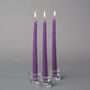 "Richland Taper Candles 10"" Purple Set of 10"