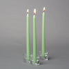 "Richland Taper Candles 10"" Green Set of 10"